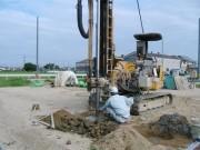 2008年9月2日 地盤補強(柱状改良)