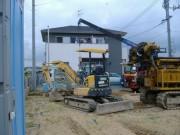 2009年8月3日 地盤改良車輌搬入