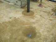 2011年3月7日 鋼管杭打込み